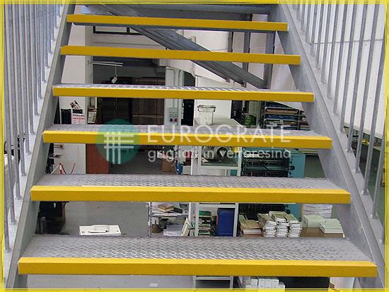 Winkel für die Sicherheit auf Stufen