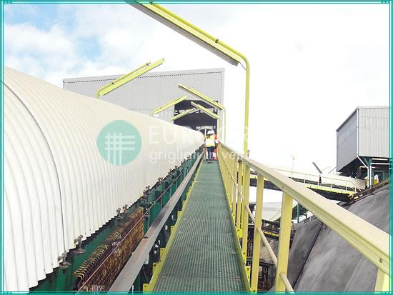 GFK-Gitterrostlaufstege und Sicherheitsgeländer für die Bergbauindustrie