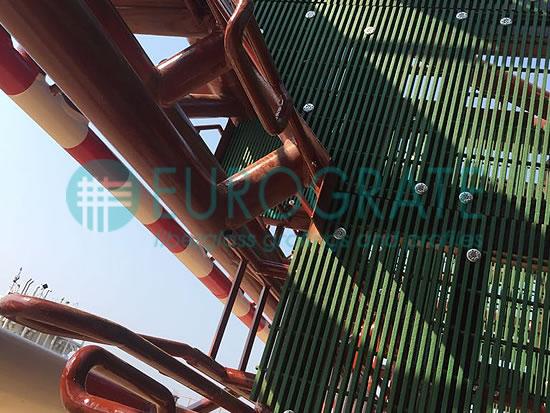 Gitterrostboden zum Bau einer Ölbohrplattform