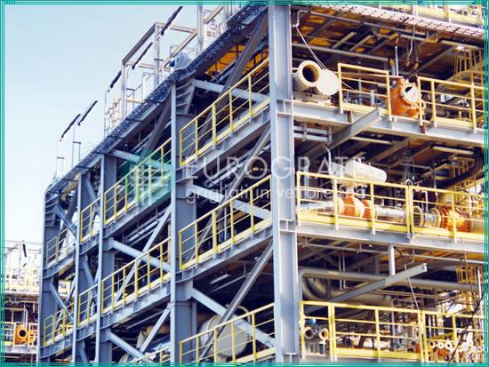 Selbsttragende Strukturen und Sicherheitsgeländer für die Öl- und Gasindustrie