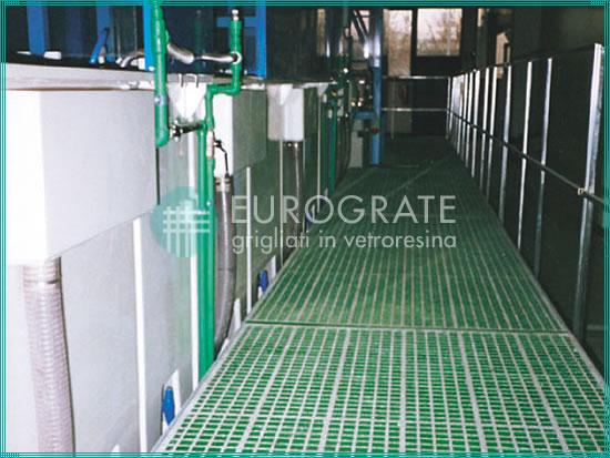 Gitterrostzaunanlagen für den Bereich der Oberflächenbehandlung in der Galvanikindustrie