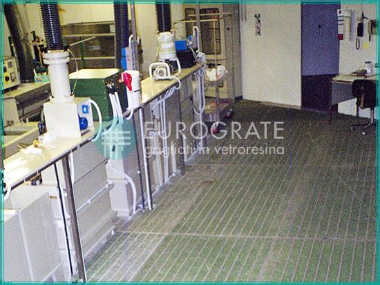 Sicherheitsbodenbeläge unter Verwendung von Gitterrosten aus glasfaserverstärktem Kunststoff für die Galvanikindustrie