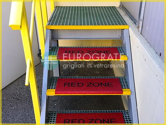 Stufenabdeckungen für Metallstufen