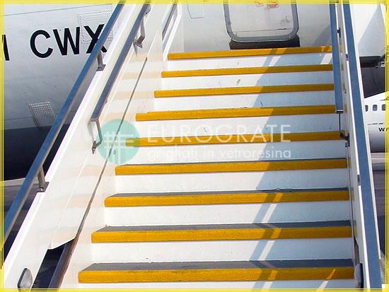 Stufenabdeckungen für Flugzeugtreppen