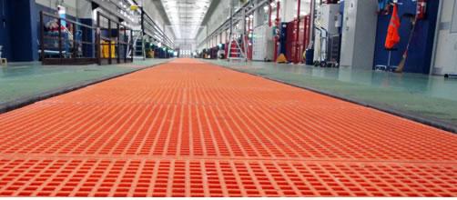 GFK-Gitter und Produkte aus glasfaserverstärktem Kunststoff für industrielle und private Anwendungen