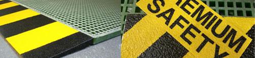 Sicherheitsprodukte: Sicherheitsgeländer, Sicherheitswinkel, Sprossenabdeckungen, Platten aus glasfaserverstärktem Kunststoff
