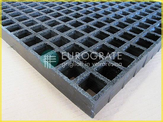 Maschen von leitfähigen Gitterrosten in der Farbe schwarz