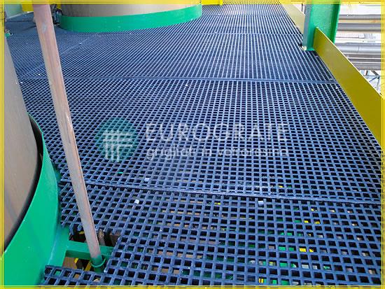 Bodenbelag mit Gitterrosten bei erforderlicher elektrischer Leitfähigkeit