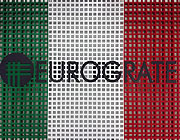Eurograte Gitterroste mit den Farben der italienischen Flagge